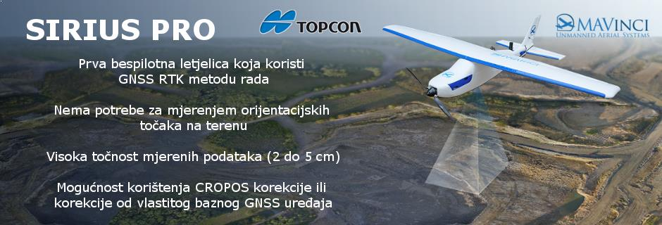 Bespilotna letjelica s krilima - Topcon Sirius Pro