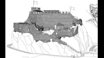 Tvrđava Sokol - pogled na fasade