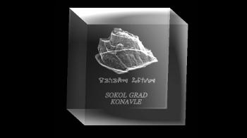 Tvrđava Sokol - suvenir (3D ispis - vitrografija)